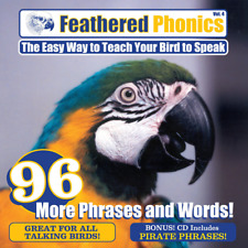 Feathered Phonics CD #4: Teach Your Bird 96 More Words & Phrases - FREE SHIPPING