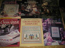 LOT 6 NEW CROSS STITCH BOOKS Storybook, Samplers, Tokens of Affection, Holiday