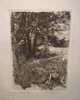 """Herbert Fink """"After The Picnic"""" Artist Signed Dated & Numbered Print Only"""