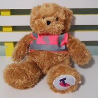 TELSTRA BEAR PINK HIVIS HIGH VISIBILITY SOFT TOY PLUSH TOY 35CM TALL!