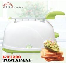 DCG Tostapane Tostiera 2 Pinze Tosta Pane Raccogli Briciole Timer Toast KTL2000