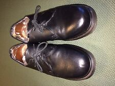 Doc Martens Shoes Made in England Size Men US-12 Black 3 eye Pre-Owned Heavy Use