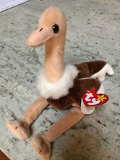 Ty Beanie Baby 'Stretch' Plush Ostrich - Sept 21, 1997 * With Errors