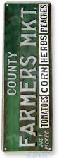 TIN SIGN County Farmers Market Kitchen Cottage Farm Farmhouse Sign A313