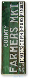 TIN SIGN County Farmers Market Kitchen Cottage Farm Farmhouse Sign A313