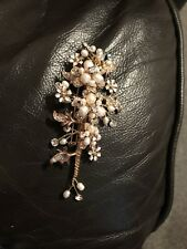 Swarovski Crystal And Pearl Pin