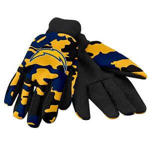 San Diego Chargers Camouflage Sports Utility Gloves Work gardening NEW CAMO