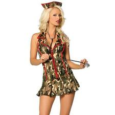 NEW Sexy Women's Army Military Cadet Camouflage Outfit Adult Halloween Costume