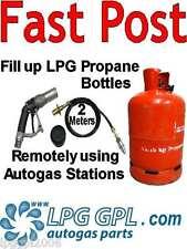 Gas bottle filling adapter REMOTE 2m pipe with non return valve autogas caravans