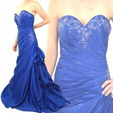 Ball Gown Prom Pageant Wedding Royal Blue Mother Bride Amanda Wyatt Dress UK 10