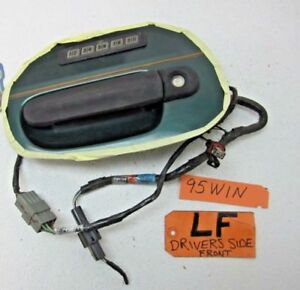 95 96 97 WINDSTAR DRIVER L LH LF LEFT FRONT OUTER DOOR HANDLE BLACK KEYLESS PAD