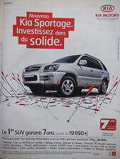 PUBLICITÉ DE PRESSE 2007 KIA SPORTAGE URBAN RIDER ESSENSE 2WD - ADVERTISING