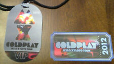 Coldplay 2012 Mylo Xyloto Tour Commemorative Ticket & VIP Lanyard 3D Lenticular