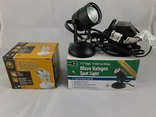 Indoor micro spotlights with 10W halogen bulbs - lot of three