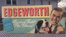 Vintage Large Edgeworth Cigarette Pipe Tobacco Cardboard Display Store Sign