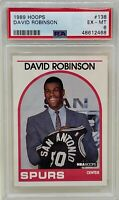 DAVID ROBINSON 1989 NBA HOOPS San Antonio SPURS Basketball Rookie CARD 138 PSA 6