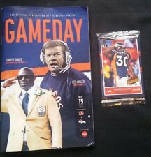 Denver Broncos vs Cincinnati Bengals Gameday Magazine Terrell Davis Hall of Fame