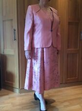 Ladies Jacques Vert Outfit Size 20 Coral Dress & Jacket fully lined