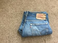 Levis mens 501 jeans size 34x30. Used blue jeans that have been bleached