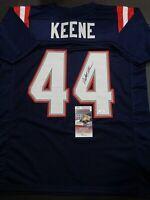 Dalton Keene New England Patriots Autographed Custom Style Jersey COA=JSA