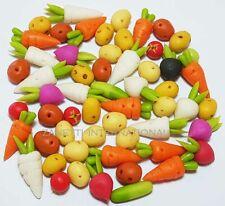 50-Piece Dollhouse Miniature Mixed Vegetables Set * Doll Mini Food Carrot Potato