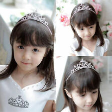Shiny Diamante Crown Tiara Heart Headband Wedding Party Children Gift