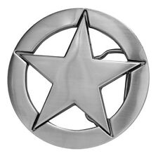 Steel Sheriff US Marshal Star Badge Buckle to attach to own belt Cowboy Lawman