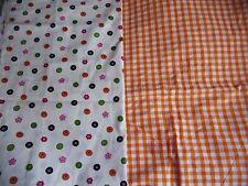 "coupons tissu "" boutons "" + vichy orange"