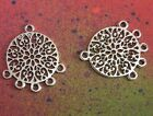 20pcs Tibetan silver ring Flat ellipse beads Connectors Jewelry Findings B3117