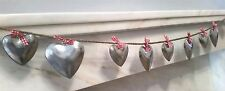 METAL HEART GARLAND RED BOWS HOME DECOR CHRISTMAS WEDDING DECORATION RUSTIC