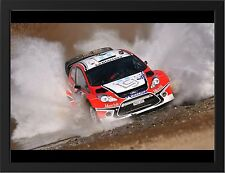CITROEN C4 RALLY NEW A3 FRAMED PHOTOGRAPHIC PRINT POSTER