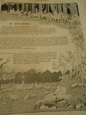 La Chasse à Courre ! Cerf Chiens Print Art 1907
