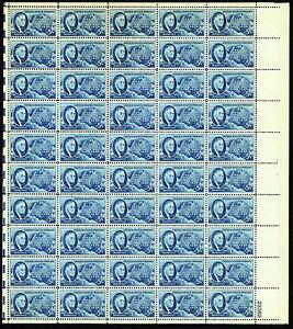 1946 US#933 Roosevelt 5 Cent  - Sheet of 50 - OGNH - VF - CV$12.50 (ESP#303)