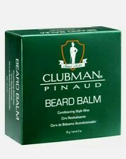 New Clubman Pinaud Beard Balm Conditioner 59g Gift Present Beeswax Soy Protein