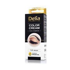 Delia Colour Cream for Eyebrow Black 1.0 with Argan Oil