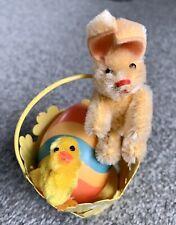 Antique Vintage Miniature Mohair Schuco Bunny Rabbit Tiny 3� To Top Ears Nice