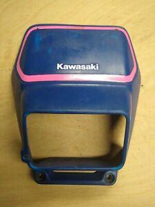 Kawasaki KDX125 / KDX 125 - LHS Tank / Radiator Panel - Blue