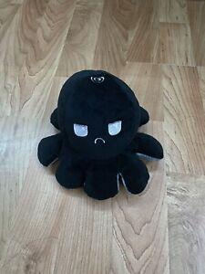 New Black Grey Reversible Flip Octopus Plush Toy Soft US Shipping Kids Emotions
