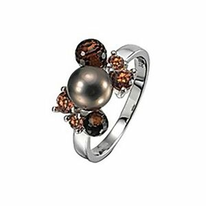 Pierre Cardin Ring PCRG90294 Damen 925er Sterling Silber Perle Braun NEU & OVP