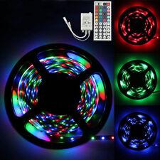 5M RGB 3528 300 LED SMD Flexible Light Strip Lamp+44 key IR Remote Controller US