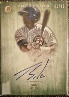2014 Bowman Inception JORGE SOLER Autograph Rookie SP /25 Chicago Cubs RC Auto