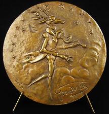Médaille JJ Grandville caricaturiste Cigale Concert d'insectes entomologie medal