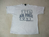 VINTAGE Air Force Shirt Adult Exyra Large Gray Blue McClellan AFB Military 90s *