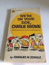We're On Your Side, Charlie Brown Comic Strips Fawcett Crest Used