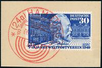 BUND 1949, MiNr. 116, Luxusbriefstück, schön mit rotem SST gestempelt, Mi. 48,-