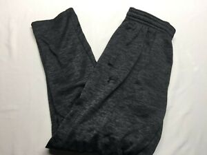 UNDER ARMOUR JOGGERS POLYESTER PANTS GRAY LARGE COLD GEAR LOOSE