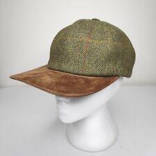OLNEY Headwear Hat Cap Wool Suede Bill Hat MEDIUM Stretch Plaid Striped  English