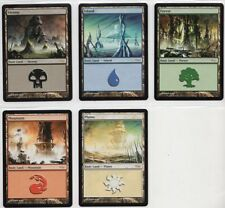 DCI LAND MANA SET  MAGIC Mtg  2004  1 of each color  MINT FROM SLEEVE! UNPLAYED!