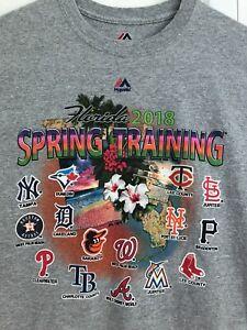MLB 2018 Spring Training Grapefruit League T SHIRT Large Rays Baseball L Florida