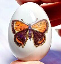Limoges France French Butterfly Egg Trinket Box Peint Main Limoge